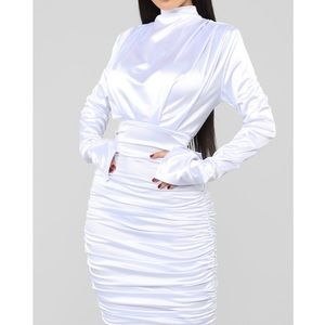 Fashion Nova Ruched Dress